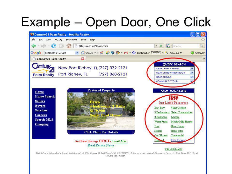 Example – Open Door, One Click