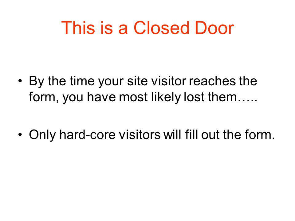 What is an Open Door? One click!