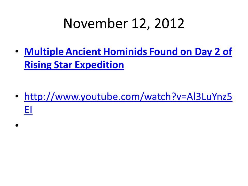 October 17, 2012 Were Earliest Human All I Species? Oddball Skull Sparks Debate