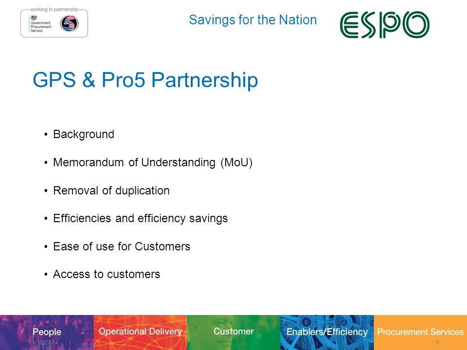 Savings for the Nation Guidance Pack & Next Steps 11/10/201430