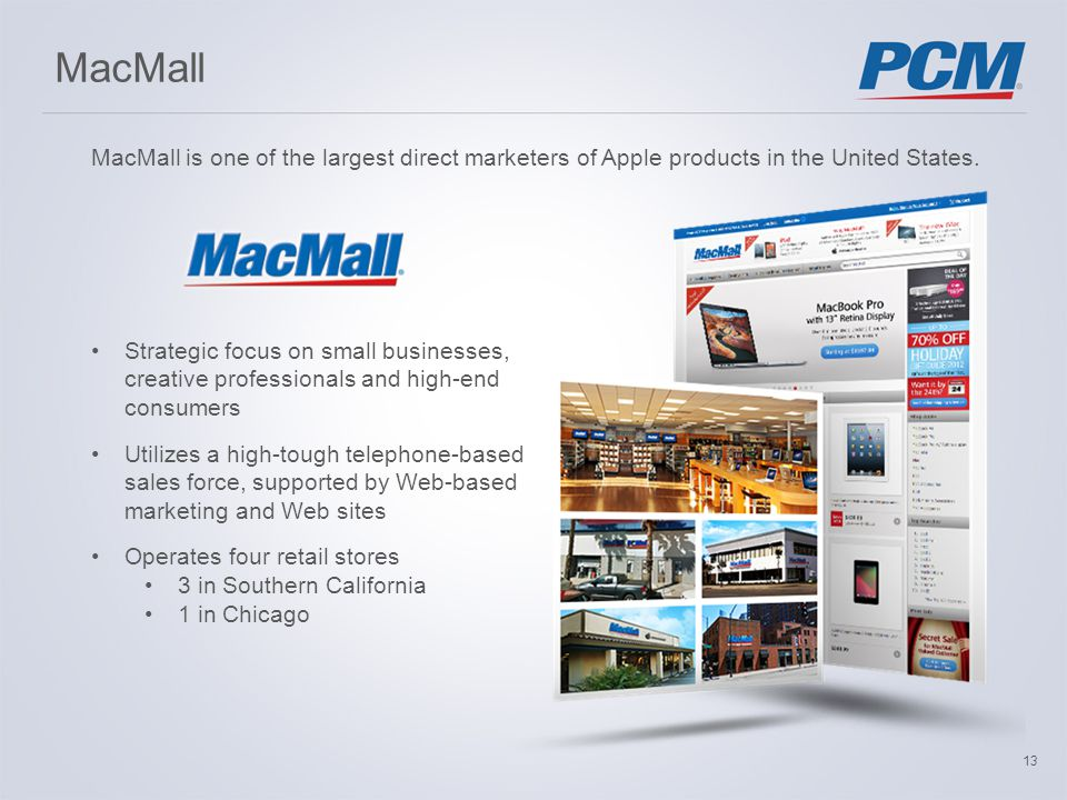 MacMall MacMall is one of the largest direct marketers of Apple products in the United States.