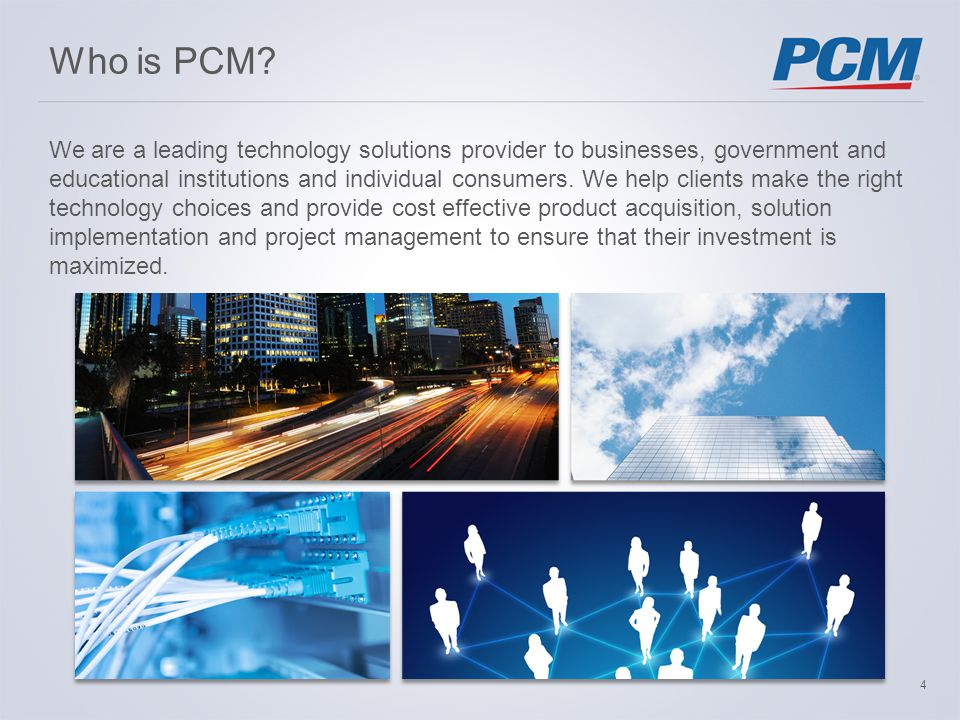 Who is PCM.