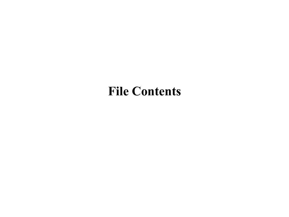 File Contents