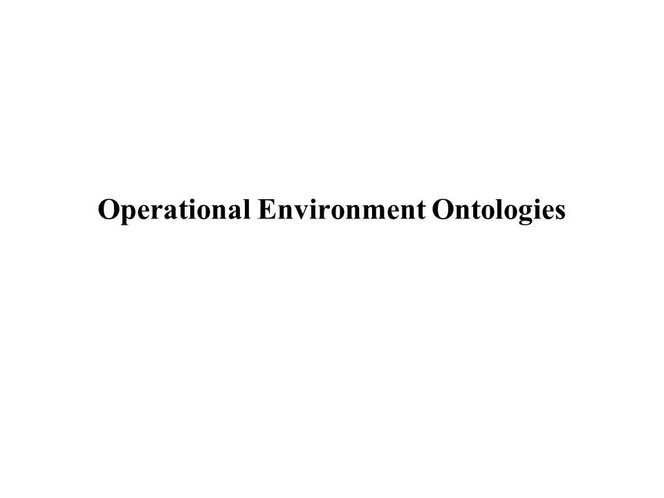 Operational Environment Ontologies