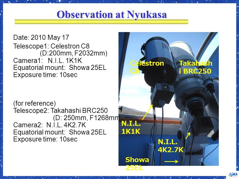 Observation at Nyukasa Date: 2010 May 17 Telescope1: Celestron C8 (D:200mm, F2032mm) Camera1: N.I.L.