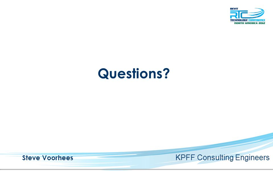 Questions Steve Voorhees KPFF Consulting Engineers