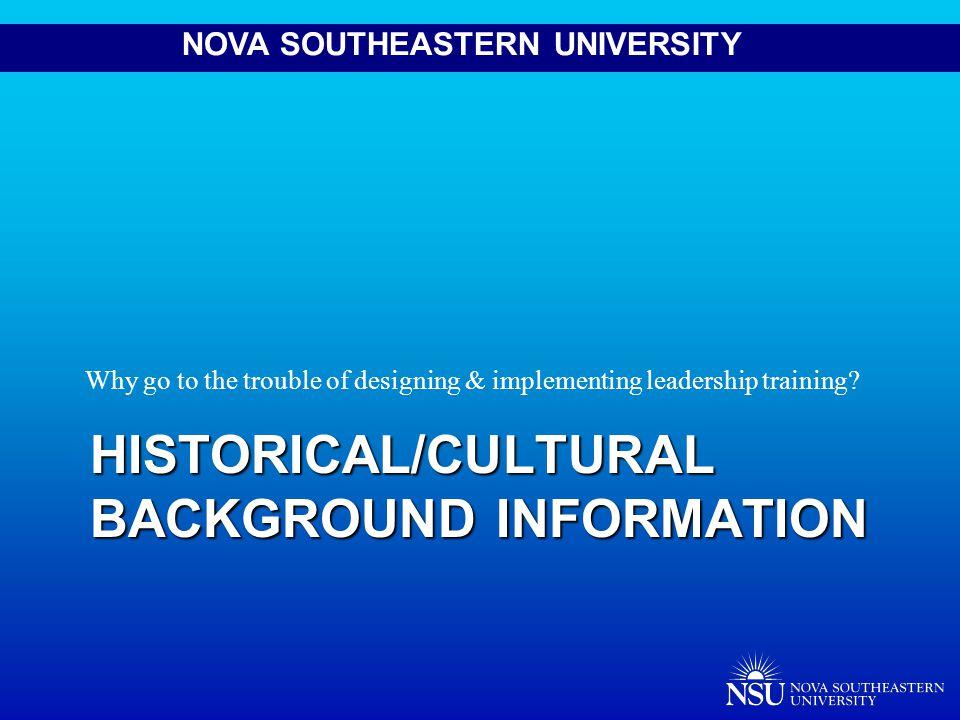 NOVA SOUTHEASTERN UNIVERSITY Pre/Post Test Managing Conflict & Change