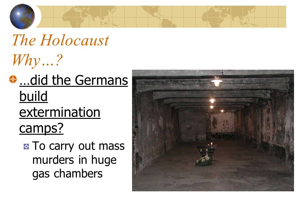 The Holocaust Why….…did Hitler believe that Jews & other subhumans had to be exterminated.