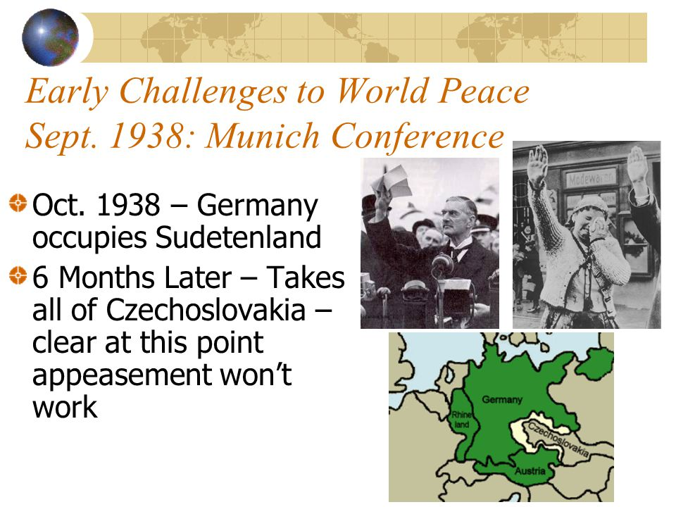 Early Challenges to World Peace Sept.
