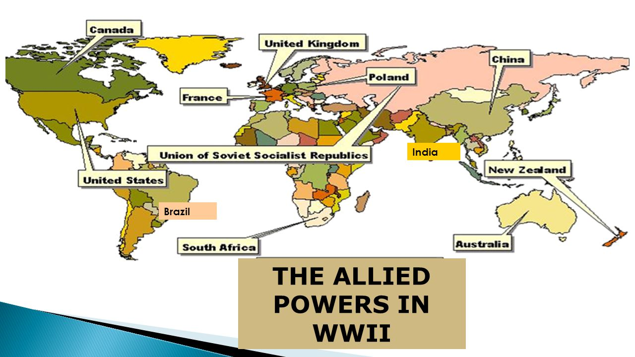 Brazil India THE ALLIED POWERS IN WWII
