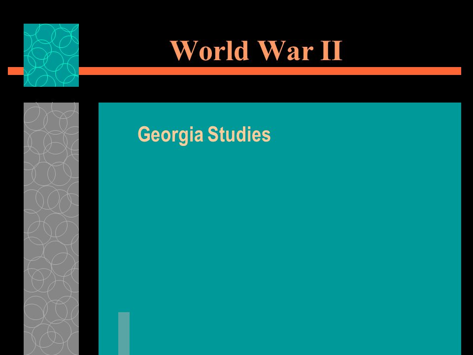World War II Georgia Studies