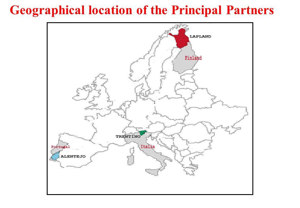 Principal Partners Trentino - Italy Lapland – Finland Alentejo – Portugal