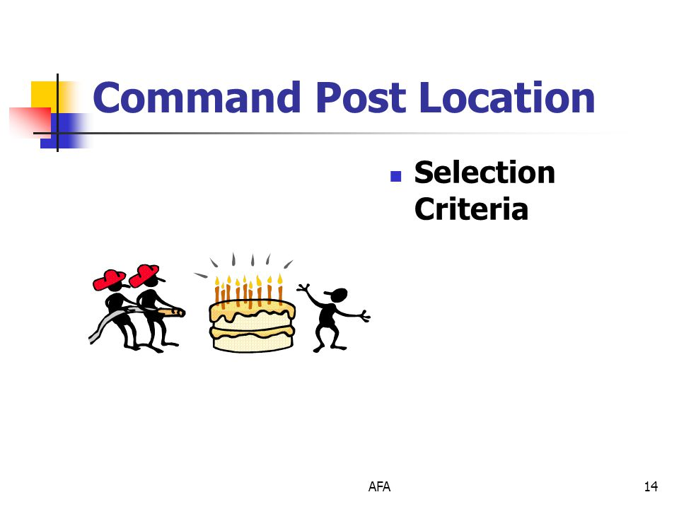 AFA14 Command Post Location Selection Criteria
