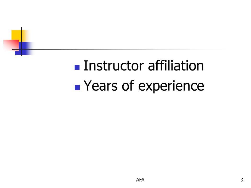 AFA14 Command Post Location Selection Criteria
