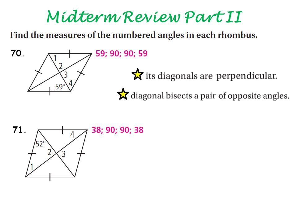 Midterm Review Part II 70. 71.