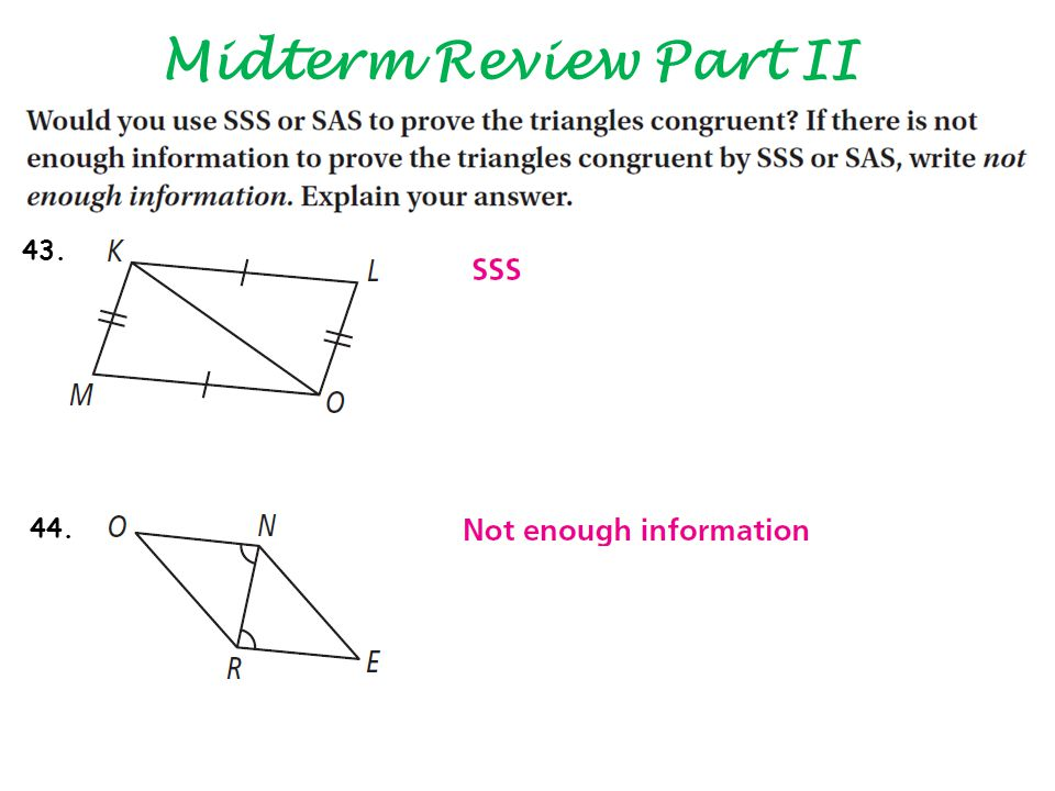 Midterm Review Part II 43. 44.