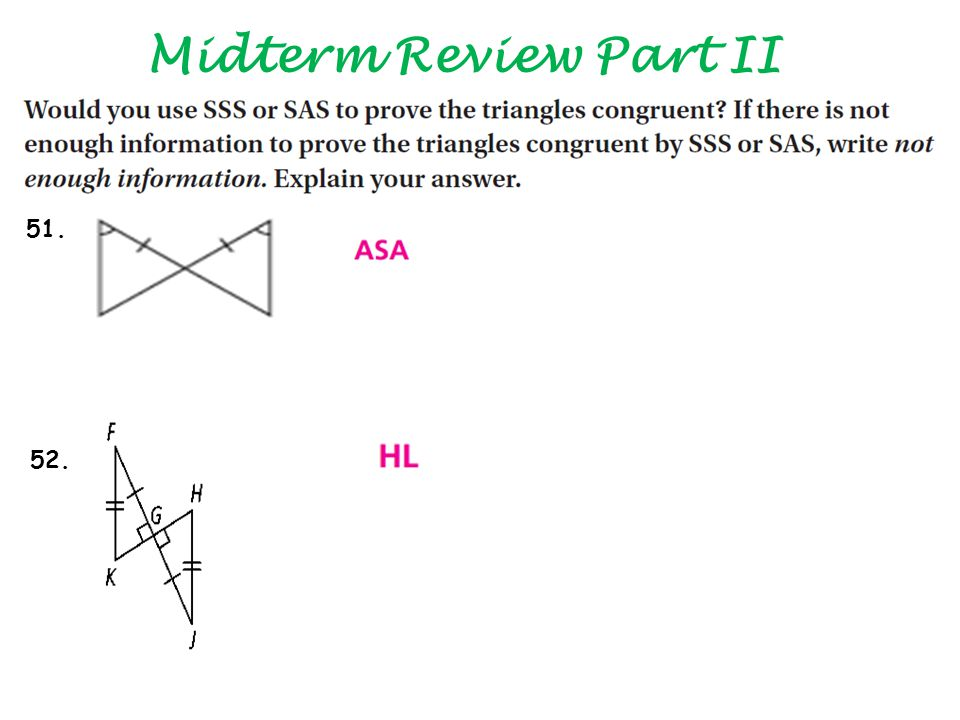Midterm Review Part II 51. 52.