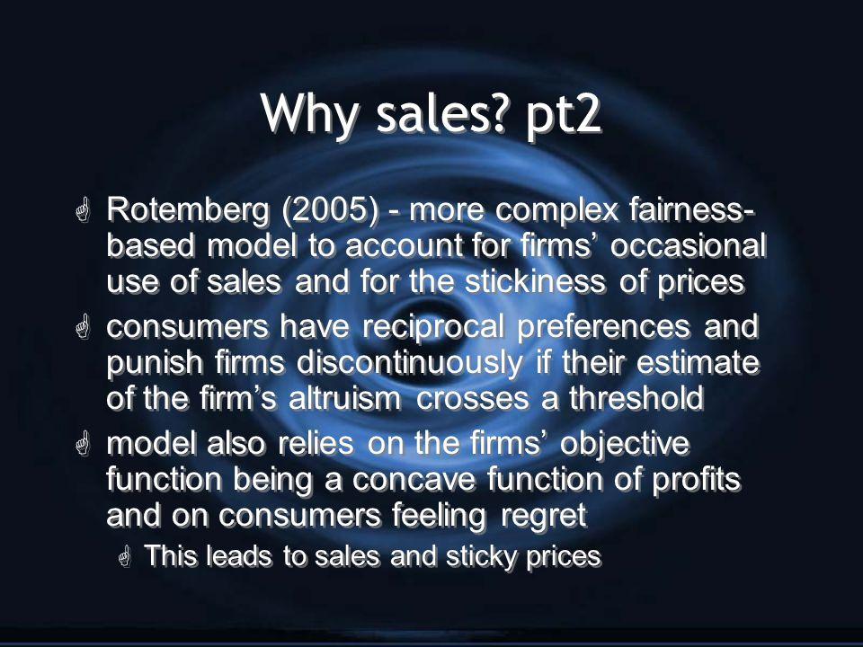 Why sales.
