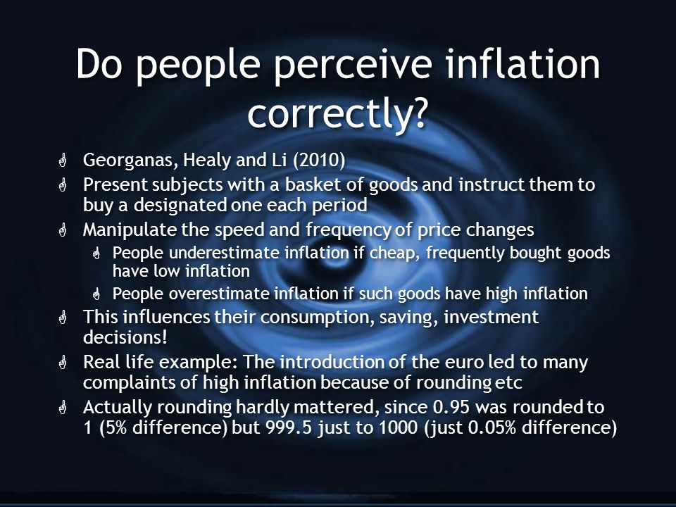 Do people perceive inflation correctly.
