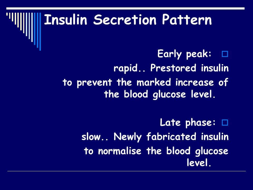  Early Peak  Late Phase Insulin secretion pattern