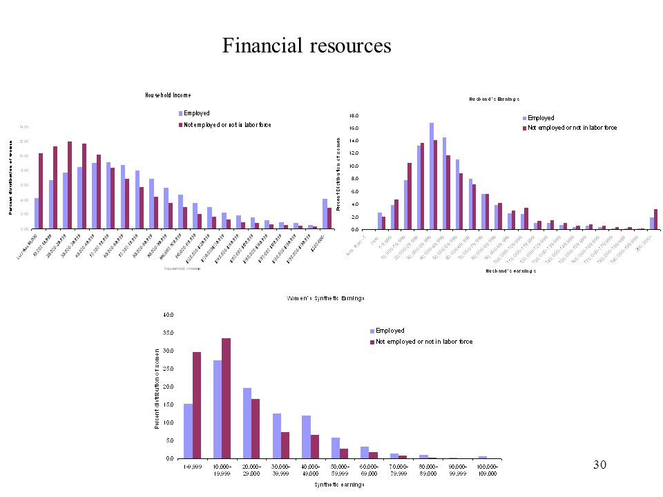 30 Financial resources