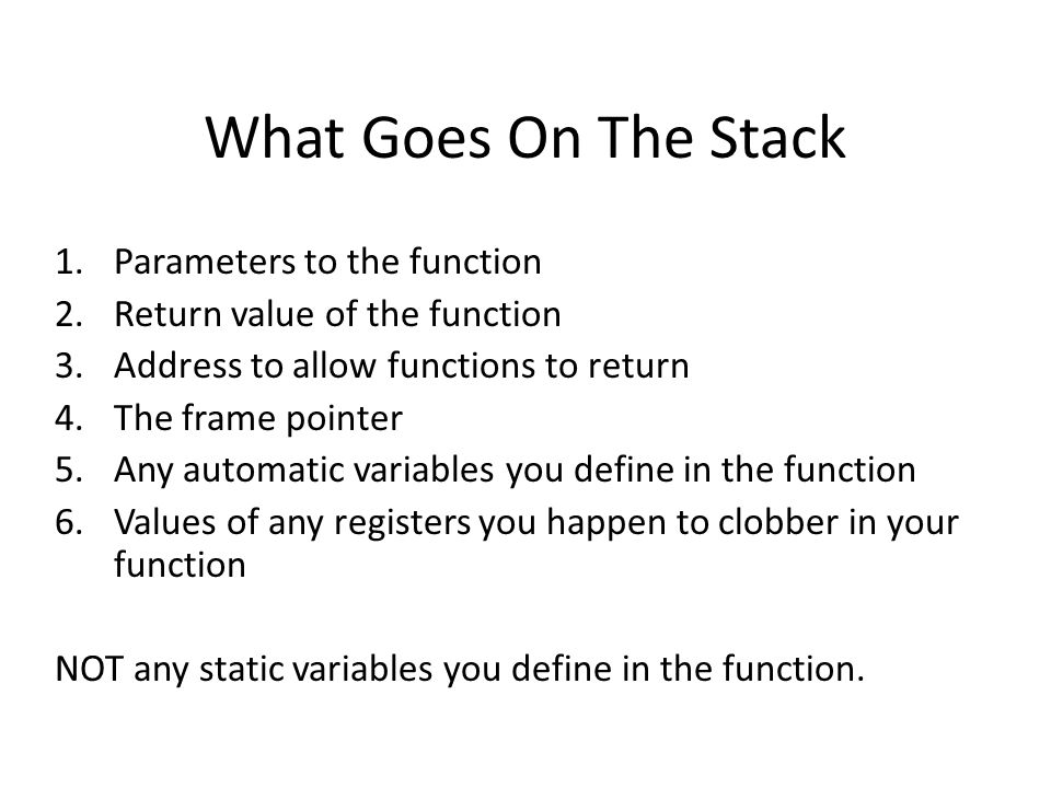 Using the stack pointer is annoying Local Variable X SP Local Variable X is at SP + 2After some allocations, Local Variable X is at SP + 5