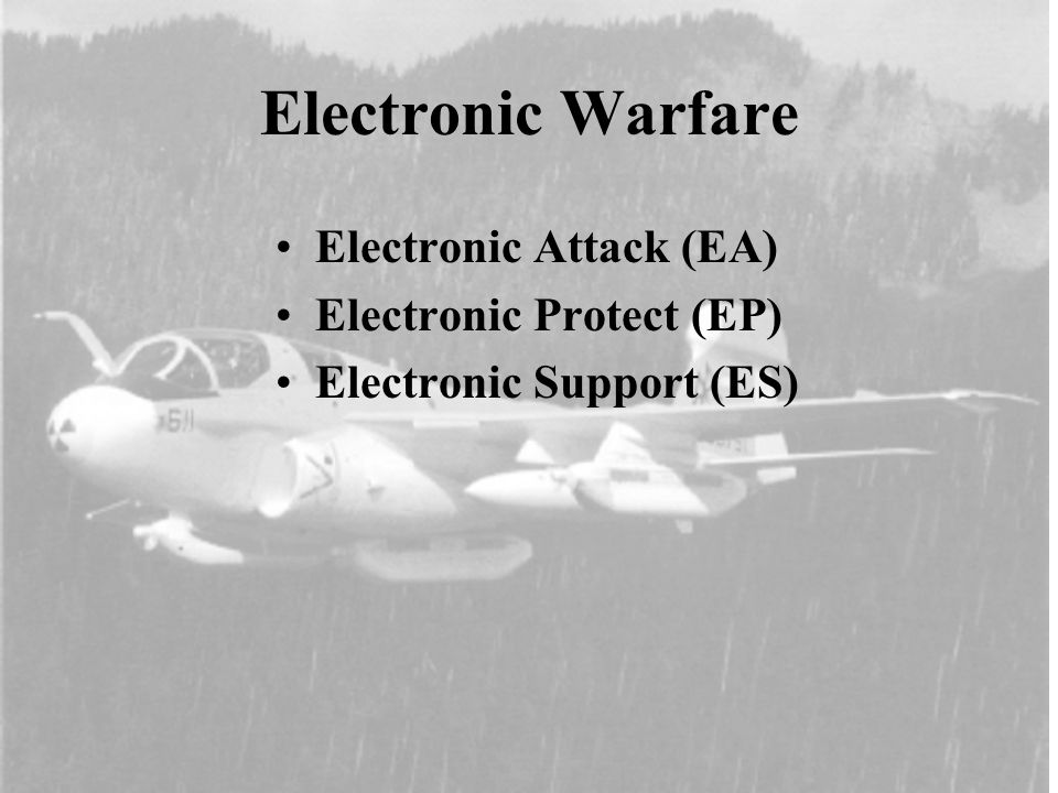Electronic Attack (EA) Types Of Nondestructive EA –Jamming –Deception