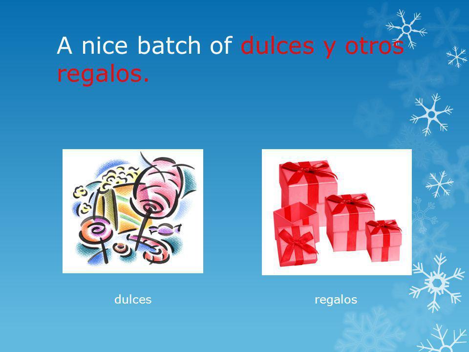 A nice batch of dulces y otros regalos. dulcesregalos