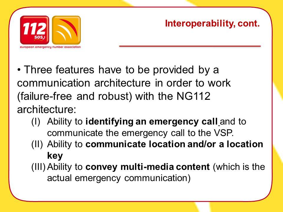 Interoperability, cont.