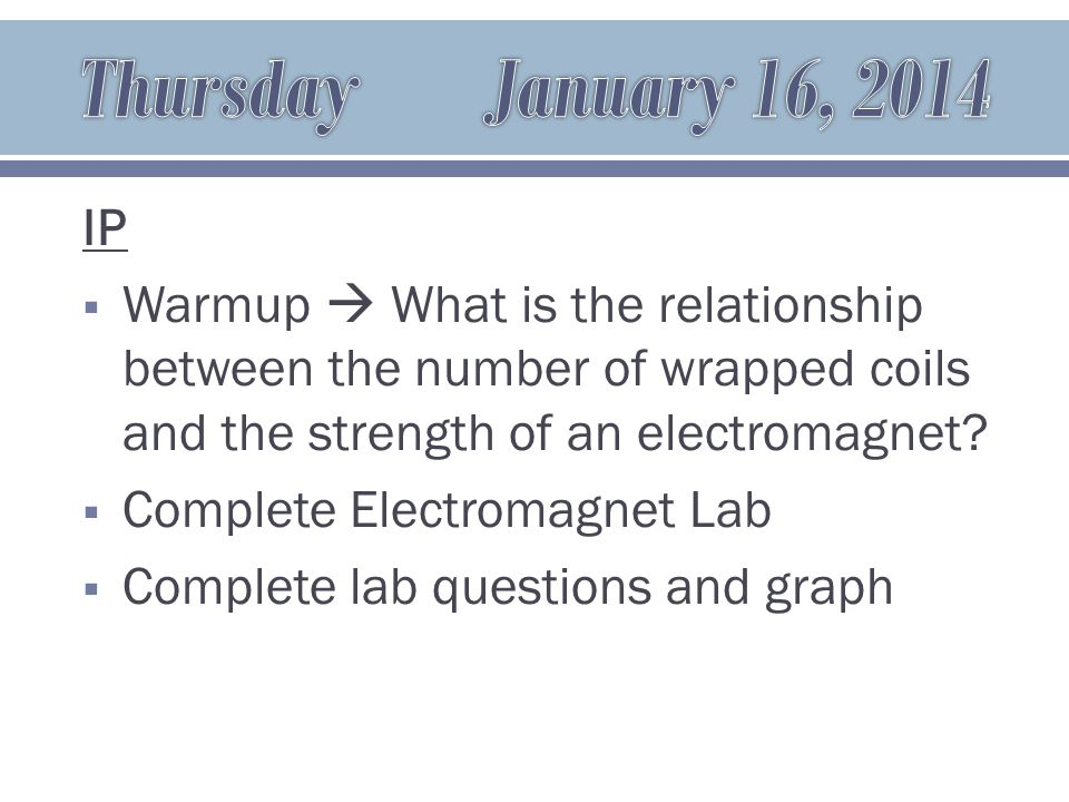 IP  Warmup  What is a wave?  Waves Notes  Period and Frequency Worksheet