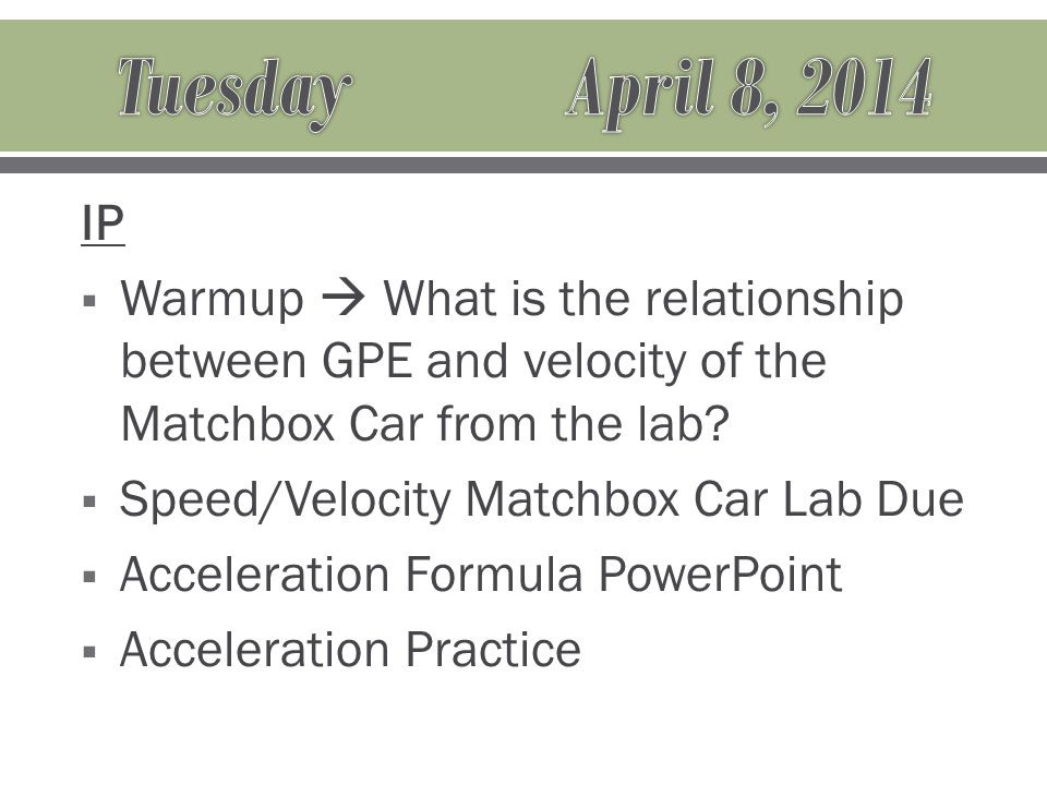 IP Warmup  Provide an example of centripetal force.