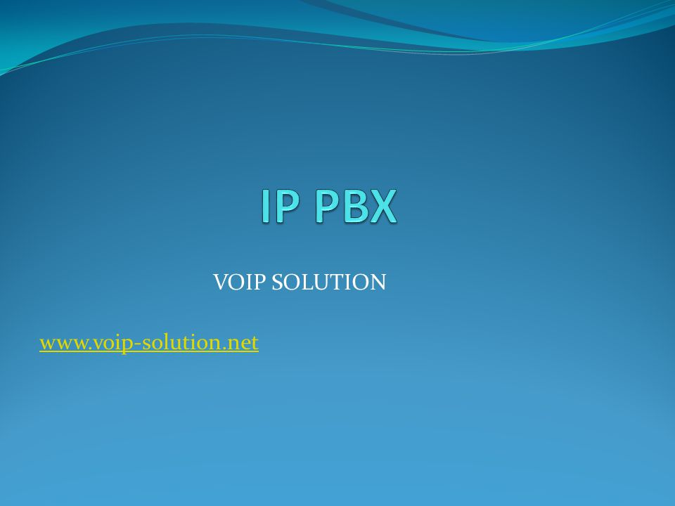 VOIP SOLUTION www.voip-solution.net