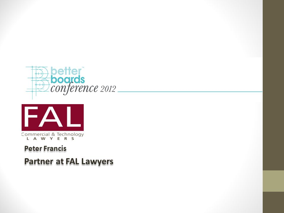 Peter Francis Partner at FAL Lawyers Peter Francis Partner at FAL Lawyers