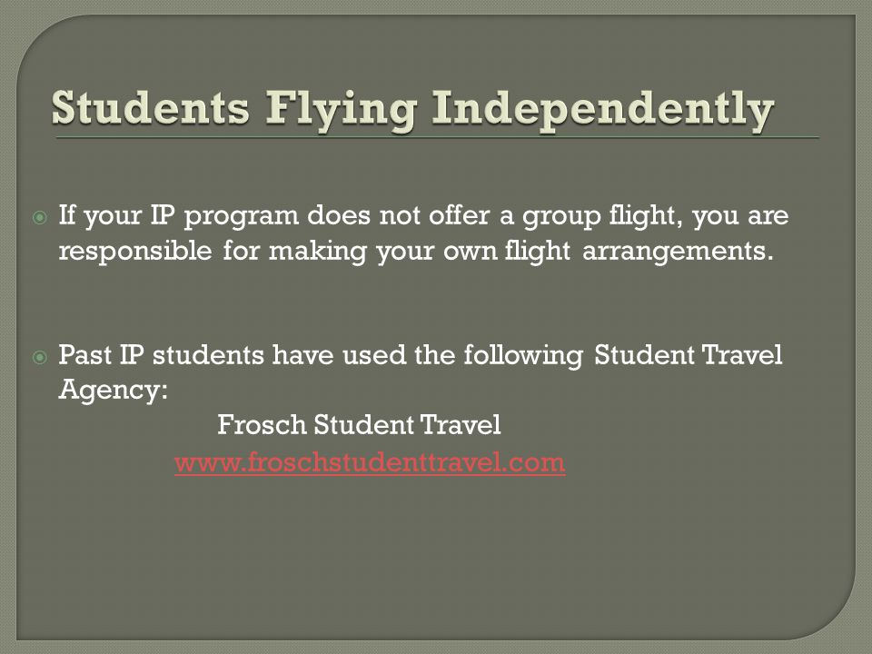 The Resident Director or a host university representative will meet the group flights at the airport and provide ground transportation, except for Tsukuba students who take a train directly to campus.