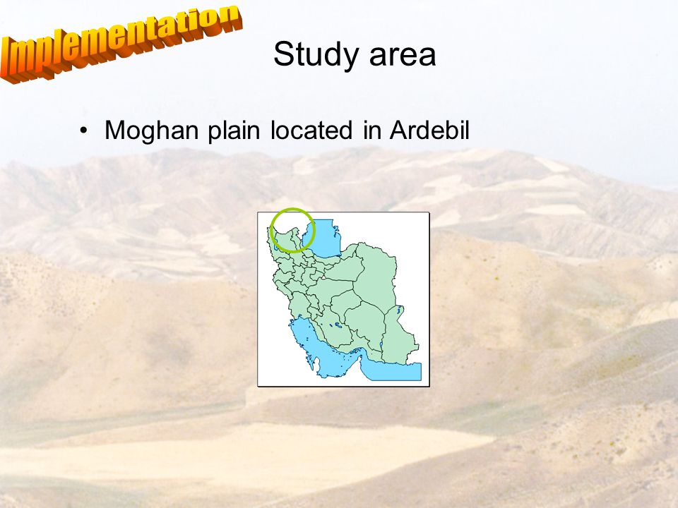 Study area Moghan plain located in Ardebil