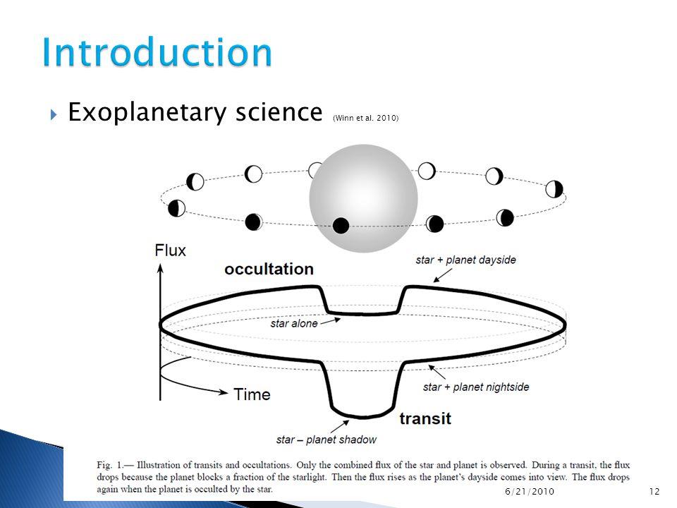  Exoplanetary science (Winn et al.