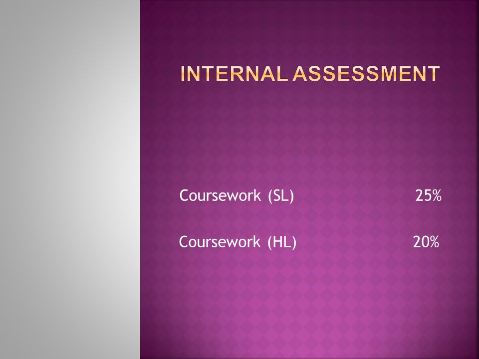  The purpose of the internally assessed coursework is to amplify, reinforce and extend the principal geographical concepts and skills taught in class.