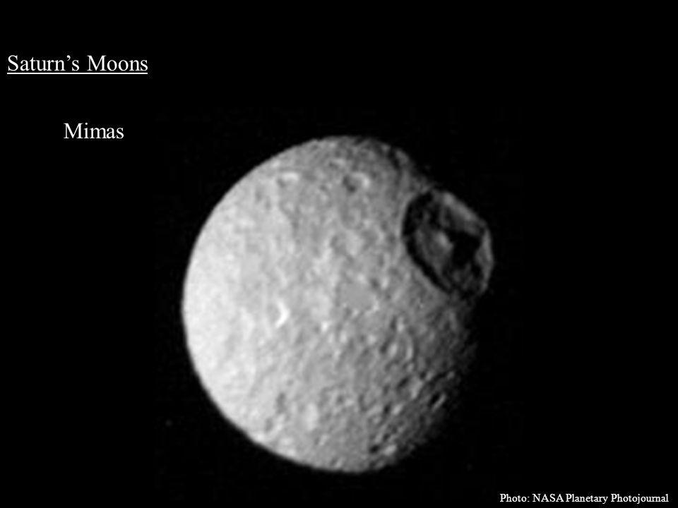 Saturn's Moons Mimas Photo: NASA Planetary Photojournal