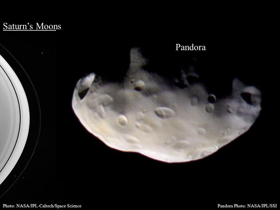 Saturn's Moons Photo: NASA/JPL-Caltech/Space Science Pandora Pandora Photo: NASA/JPL/SSI