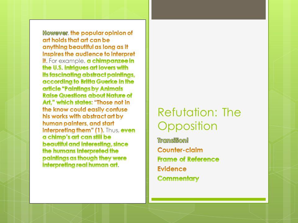 Refutation: The Opposition