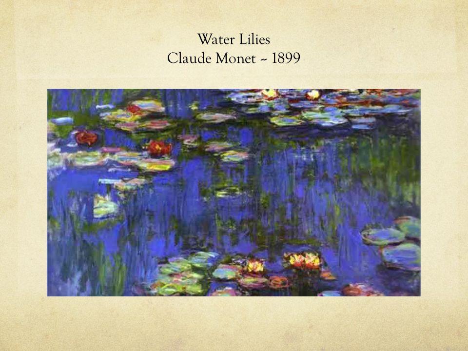 Water Lilies Claude Monet -- 1899
