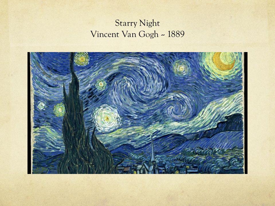 Starry Night Vincent Van Gogh -- 1889