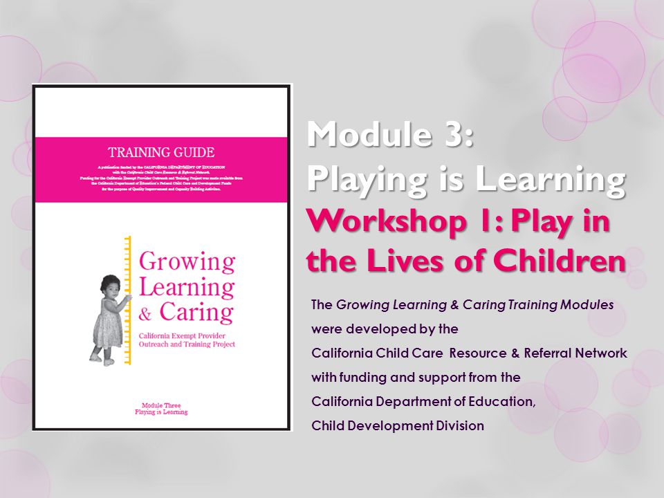 The Role of the Provider  Set up a safe, healthy environment that encourages curiosity and creativity.