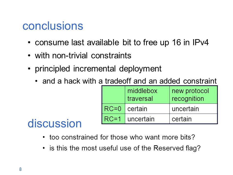 IPv4 header: Recycle 16 bits? draft-briscoe-intarea-ipv4-id-reuse-00 Q&A