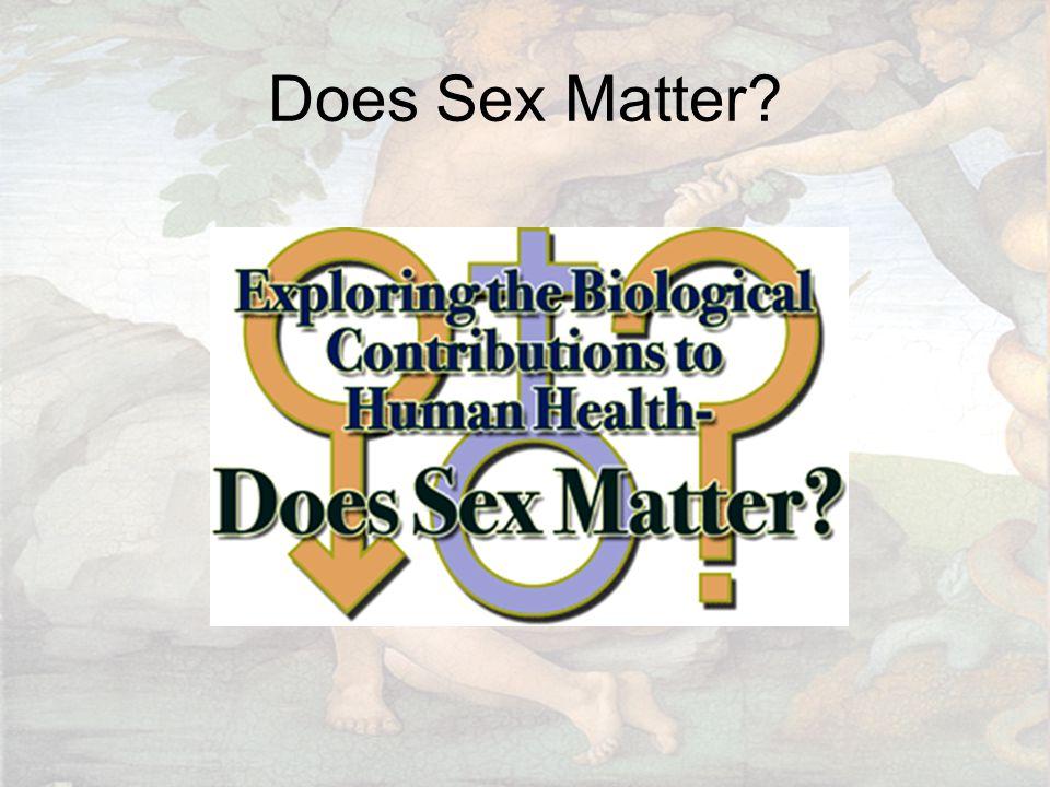 Does Sex Matter?