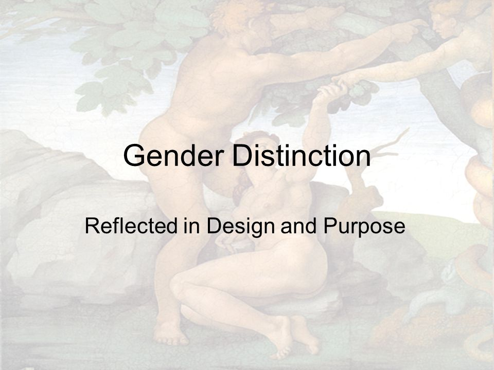 Gender Distinction Reflected in Design and Purpose