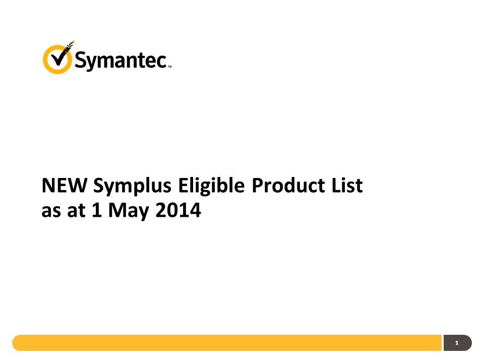 1 NEW Symplus Eligible Product List as at 1 May 2014