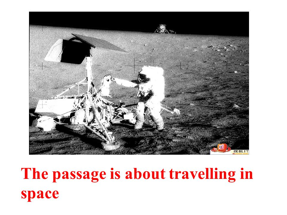 The passage is about travelling in space