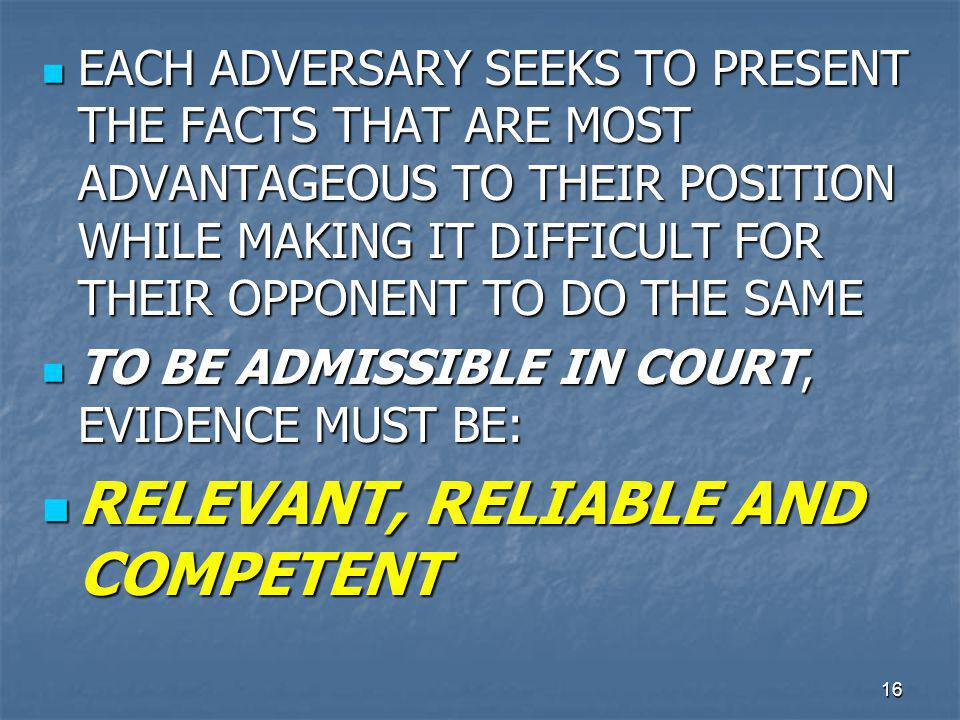 17 RELEVANT EVIDENCE RELEVANT EVIDENCE IS DIRECTED OR CIRCUMSTANTIAL EVIDENCE THAT HAS IS OF CONSEQUENCE TO THE DETERMINATION OF THE ACTION MORE PROBATIVE OR LESS PROBATIVE THAN IT WOULD BE WITHOUT THE EVIDENCE RELEVANT EVIDENCE IS DIRECTED OR CIRCUMSTANTIAL EVIDENCE THAT HAS IS OF CONSEQUENCE TO THE DETERMINATION OF THE ACTION MORE PROBATIVE OR LESS PROBATIVE THAN IT WOULD BE WITHOUT THE EVIDENCE RULE 403 OF THE FEDERAL RULES, SOMETIMES REFERRED TO AS THE LEGALLY RELEVANT TEST, ALLOWS FOR RELEVANT EVIDENCE TO BE EXCLUDED IF IT MAY (1) UNFAIRLY PREJUDICE A PARTY, (2) CONFUSE THE JURY OR (3) WASTE THE COURT'S TIME RULE 403 OF THE FEDERAL RULES, SOMETIMES REFERRED TO AS THE LEGALLY RELEVANT TEST, ALLOWS FOR RELEVANT EVIDENCE TO BE EXCLUDED IF IT MAY (1) UNFAIRLY PREJUDICE A PARTY, (2) CONFUSE THE JURY OR (3) WASTE THE COURT'S TIME