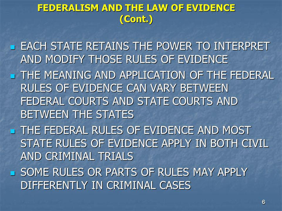 7 STATE AND FEDERAL JURISDICTION OVER CRIMES IN THE UNITED STATES THE GREAT MAJORITY OF CRIMES COMMITTED IN THE UNITED STATES ARE VIOLATIONS OF STATE CRIMINAL CODES THE GREAT MAJORITY OF CRIMES COMMITTED IN THE UNITED STATES ARE VIOLATIONS OF STATE CRIMINAL CODES SOME CRIMES ARE FEDERAL OFFENSES IN VIOLATION OF THE FEDERAL CRIMINAL CODE SOME CRIMES ARE FEDERAL OFFENSES IN VIOLATION OF THE FEDERAL CRIMINAL CODE A SMALL PERCENTAGE OF CRIMINAL OFFENSES ARE VIOLATIONS OF BOTH THE FEDERAL CRIMINAL CODE AND A STATE CRIMINAL CODE A SMALL PERCENTAGE OF CRIMINAL OFFENSES ARE VIOLATIONS OF BOTH THE FEDERAL CRIMINAL CODE AND A STATE CRIMINAL CODE THE U.S.